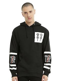 Twenty One Pilots Big Logo Hoodie, GREY, hi-res