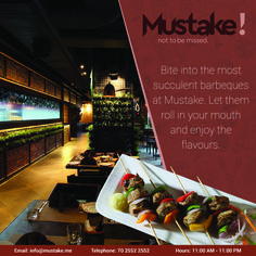 Its luscious, scrumptious, succulent and completely enticing. ‪#‎Barbecue‬ @ ‪#‎Mustake‬ Multi Cuisine ‪#‎Restaurant‬