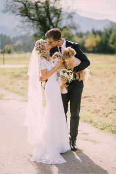 Bride, Groom and Fur