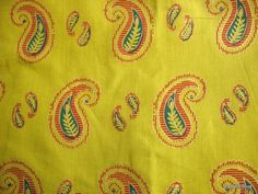 Indian Block Print Fabric Cotton Border Print by theDelhiStore