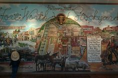 Feeling nostalgic?  Or just like the smell of cow manure and cowboy boots?  Head over to the stockyards and buy a postcard to send to someone you love.