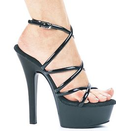 2562224d08d Sexy 6 inch Platform High Heel Shoes with Spaghetti Ankle Straps