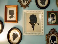 Love the idea of an entire wall of framed cameos