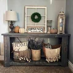 Rustic farmhouse entryways that are really welcoming and inspiring and that are prefect to finish up your farmhouse design. To create one you'll need shabby chic or just rustic furniture, wood pieces and baskets for storage. Entryway is a transitional__ Continue Reading _ØŒ >>> You can get more details by clicking on the image. #HomeImprovementHacks