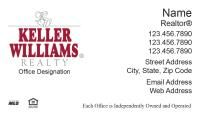 A Red Store - Keller Williams Business Cards