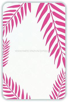 Partecipazioni di matrimonio - dimensione: 17 x 11 - forma: Rettangolare angoli arrotondati - carta: Gmund Cotton - Max White - 300, 600, 900 gr. - linea: foglie - modello: foglie tipo 1 ver. 1 - lavorazione press: trama