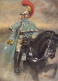 Casque de valeur en Russie. Ufficiale superiore del 2me Carabiniers a Cheval, Campagna di Russia 1812