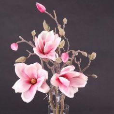 Magnolie LARA větev umělá růžová 45cm