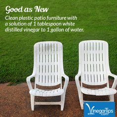 Clean your gray and dingy patio furniture with nothing but some ...