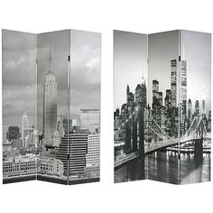 Shop Oriental Furniture 6-Foot Double-Sided New York Scenes Room Divider - 3-Panel, read customer reviews and more at HSN.com.