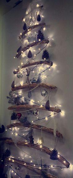 DIY! Very creative Christmas Tree. Love it.