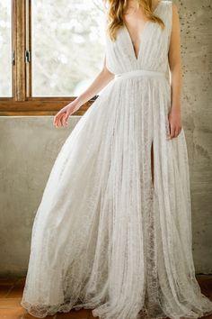 Modern Grecian wedding dress