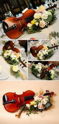 music inspired wedding decor