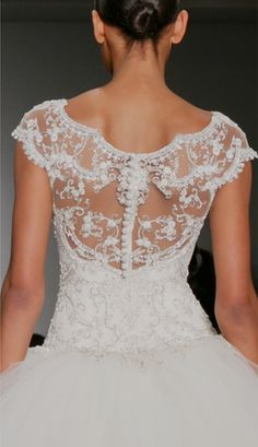 lace and poofy gown
