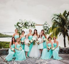 A destination wedding in St. Maarten with stunning views and a party so amazing, the locals thought it was Jay-Z and Beyonce partying at the private villa.