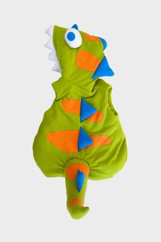 Back view of Glammic's kids Dinosaur Halloween costume.  Available at Glammic.com.