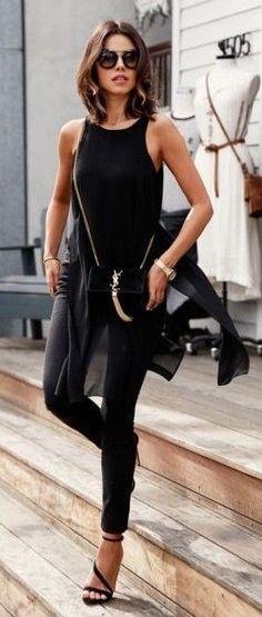 All Everything Black Street Style | Vivaluxury