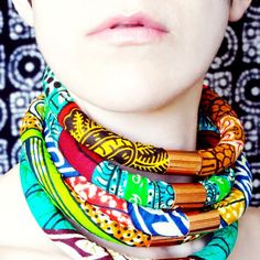 Inspired by bold African fabrics and design, these neck ropes are virtually weightless and easy to assemble.
