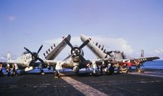 VA196 Skyraiders locked and loaded. Ready for a shorty over Viet Nam