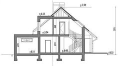 Projekt domu Arystoteles 144,5 m2 - koszt budowy - EXTRADOM House Roof, Facade House, Dormer Bungalow, Casas Containers, A Frame Cabin, Country House Plans, House Layouts, Modern House Design, Home Builders