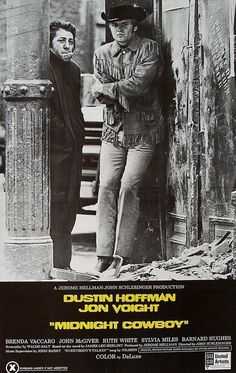 1969 Midnight Cowboy Movie Poster