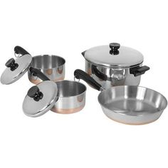 Copper Bottom Line 7-Piece Set, Stainless Steel >>> More info could be found at the image url.