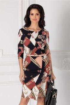 Rochii cu Imprimeuri Fashion Outfits, Fashion Clothes, Cold Shoulder Dress, Makeup, Floral, Dresses, Accessories, Shoes, Make Up