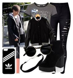 """Louis"" by danielacarrasco467 ❤ liked on Polyvore featuring WithChic, Topshop, MSGM, adidas and NARS Cosmetics"