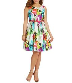 Shop for Eliza J Plus Floral-Print Fit-and-Flare Dress at Dillards.com. Visit Dillards.com to find clothing, accessories, shoes, cosmetics & more. The Style of Your Life.
