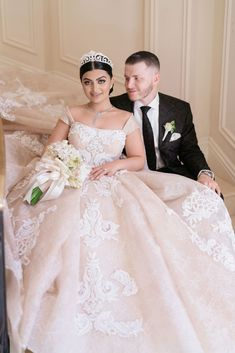 real wedding photo from eddie zaratsian lifestyle and design event bride in panache atelier by sahar fotouhi wedding dress ball gown with groom Ball Dresses, Ball Gowns, Wedding Gowns, Wedding Day, Luxury Wedding, Bride Groom, Real Weddings, Wedding Planning, Wedding Inspiration