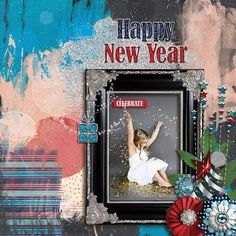GingerScraps :: Kits :: At Midnight Kit by JoCee Designs  Layout by CTM Karen  #digitalscrapbooking#digiscrapping#digitalart#scrapbooking#makingmemories#Midnight#new year#new years' eve#auld lang syne#happy new year#balloons#champagne#fireworks#party#hat#noise maker#mask#clock#bling#disco ball#countdown#cork#glass#new beginnings#gingerscraps#joceedesigns