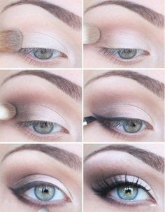 A soft and simple eye makeup for your blue eyes!   Eyeshadow Tutorials for Blue Eyes