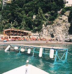 """Arriving at Arienzo Beach Club in #positano - a much better alternative to the overcrowded da Adolfo. And who can resist those #graymalin worthy orange…"""