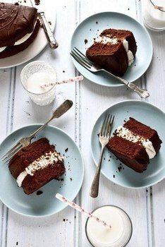 """Шоколадный пирог """"Чёрное и белое"""""""