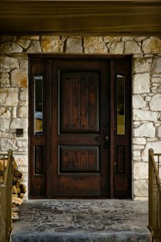 Arion Drive. Knotty Alder Entry Door and side lights. www.clearancedoor.com
