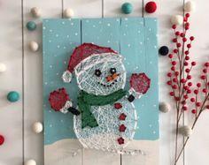 Christmas String Art Decoration String Art Holiday by UrbanHoot