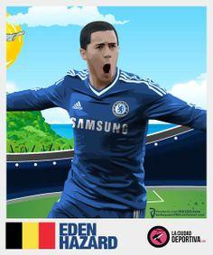 #Hazard #StickersProject V27 » #Football #Panini #Estampas #Soccer #Brasil2014 http://www.akyanyme.com/index.php/es/portafolio/fanart/brazil-2014/stickers-brazil-2014/295-sticker-brazil-2014-v27
