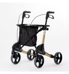Topro Troja Gold Rollator Original Leichtgewicht-Rollator Troja M Gold Edition