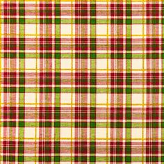 Red & Green Christmas Plaid Cotton Fabric