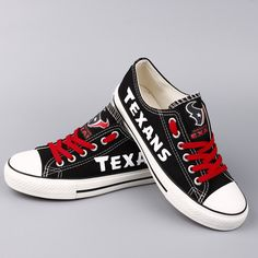 Houston Texans Converse Style Sneakers - http://cutesportsfan.com/houston-texans-designed-sneakers/