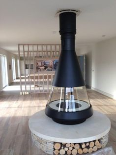 Modern Stove fitted with Matt Black HT-S, Twin Wall Flue System