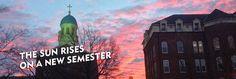 Sunrise over the University of Dayton