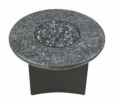 """Fire Pit Table : Granite 32"""" Round Blue Pearl"""