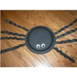 Paper Plate Spider (We used just white paper plates and then the kids could color their spiders)
