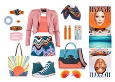 """""""To more colors! To more style!"""" by esenyav on Polyvore featuring мода, M Missoni, WearAll, FRACOMINA, Converse, Versace, Mara Hoffman, Hermès, Ray-Ban и Moschino"""
