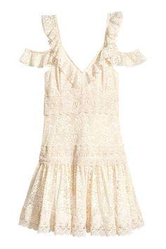 Kanten jurk - Gebroken wit - DAMES   H&M NL