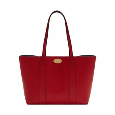 Mulberry - Bayswater Tote in Scarlet & Midnight Small Classic Grain