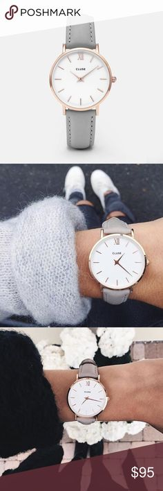 Cluse Minuit watch Brand new never been worn authentic Cluse watch. Rose gold with gray leather band. Cluse Accessories Watches