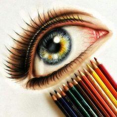 Colour pencil eye