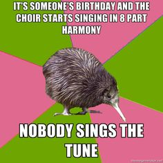 it's someone's birthday and the choir starts sing…